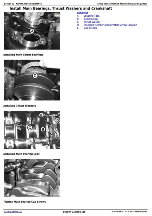 Third Additional product image for - Powertech 4024 2.4 L & 5030 3.0 L Diesel Engines Technical Service Manual (CTM301)