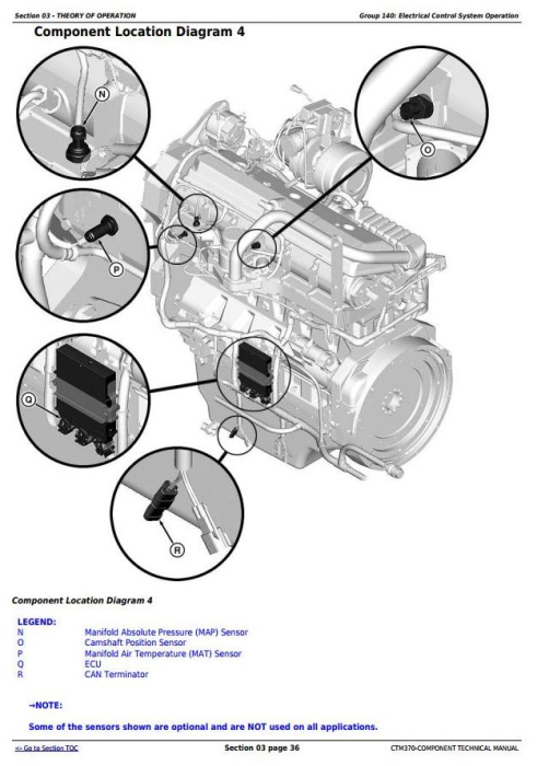 Third Additional product image for - PowerTech 6135 Diesel Engine Level 15 Electronic Fuel Systems w.Delphi EUIs Technical Manual(CTM370)