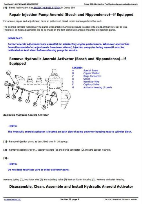 Fourth Additional product image for - PowerTech Plus & PowerTech E 6135 13.5L Diesel Engines Base Engine Diagnostic&Repair Manual(CTM415)