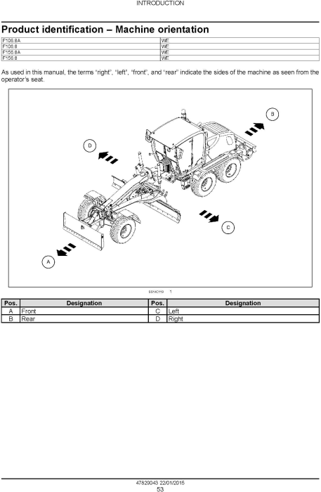 Third Additional product image for - New Holland F106.8, F106.8A, F156.8, F156.8A Motor grader Service Manual