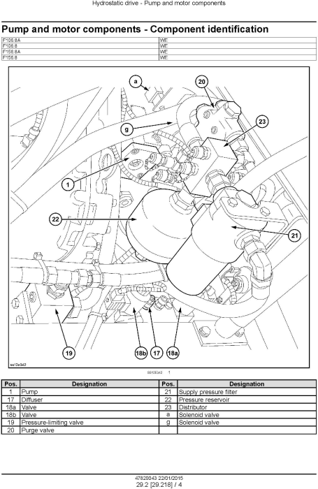 Fourth Additional product image for - New Holland F106.8, F106.8A, F156.8, F156.8A Motor grader Service Manual