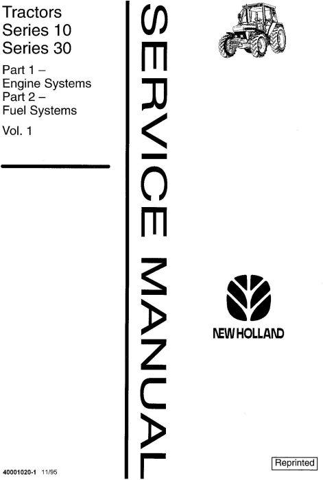 First Additional product image for - Ford, New Holland 2310-8210 (xx10 Series), 3230, 3430, 3930, 4630, 4830, 5030 Tractor Service Manual