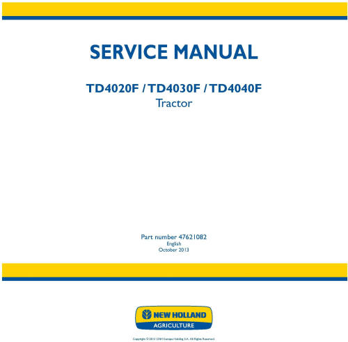 First Additional product image for - New Holland TD4020F, TD4030F, TD4040F Tractor Service Manual