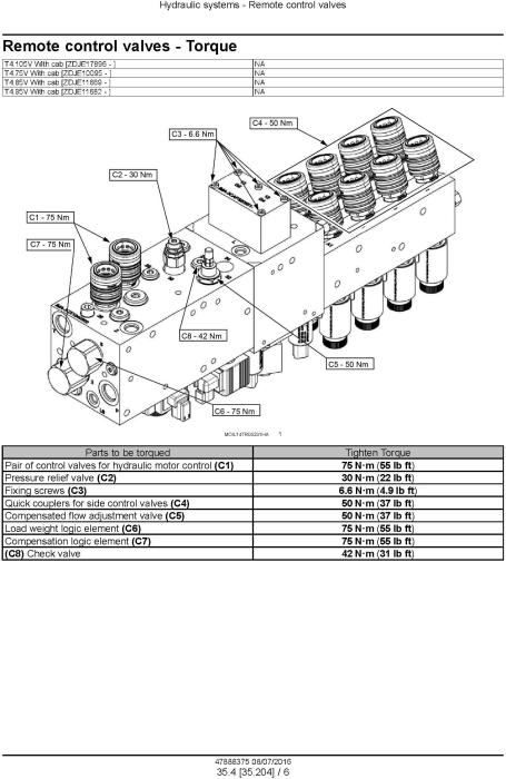 New Holland T4.75V, T4.85V, T4.95V, T4.105V Tier 3 Tractor