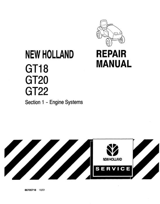 New Holland GT18, GT20, GT22 Garden Tractor COMPLETE