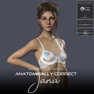 Anatomically Correct: Jana for Genesis 3 and Genesis 8 Female | Software | Design