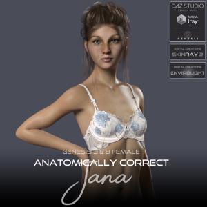 anatomically correct: jana for genesis 3 and genesis 8 female