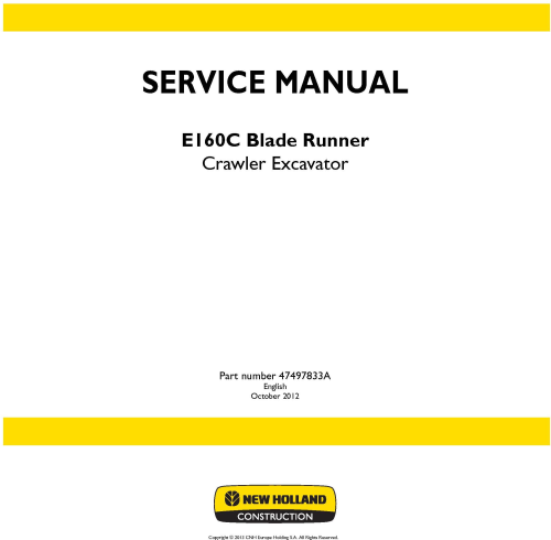 First Additional product image for - New Holland E160C Blade Runner Crawler Excavator Service Manual