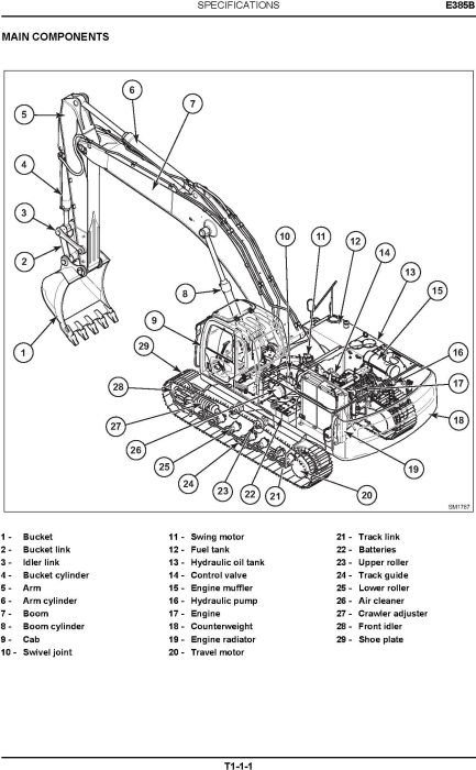 Second Additional product image for - New Holland E385B ROPS Tier III Crawler Excavators Service Manual