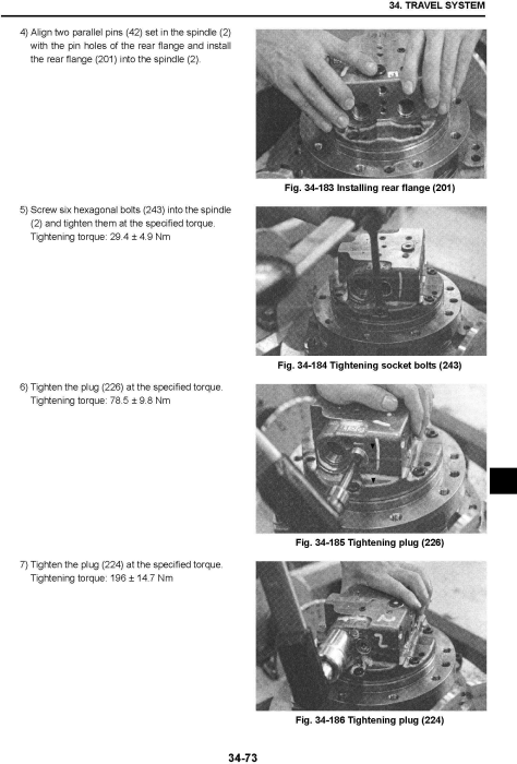 Fourth Additional product image for - New Holland E45BSR/E50BSR Mini Excavators Service Manual (09/2011)
