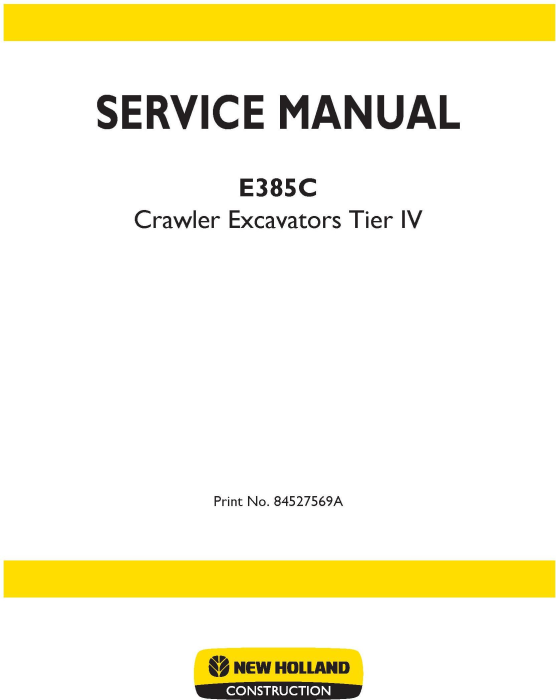 First Additional product image for - New Holland E385C Tier IV Crawler Excavators Service Manual (09/2011)