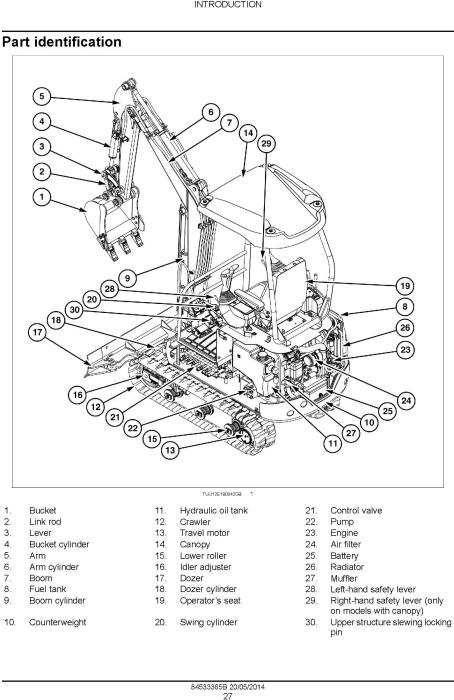 Second Additional product image for - New Holland E16B, E18B Mini Excavator Service Manual
