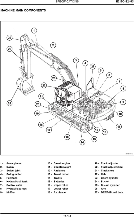 Second Additional product image for - New Holland E215C, E245C Tier IV Crawler Excavators Service Manual (10-2011)