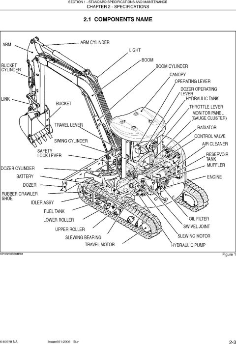 Second Additional product image for - New Holland E50, E50SR Compact Excavator Service Manual