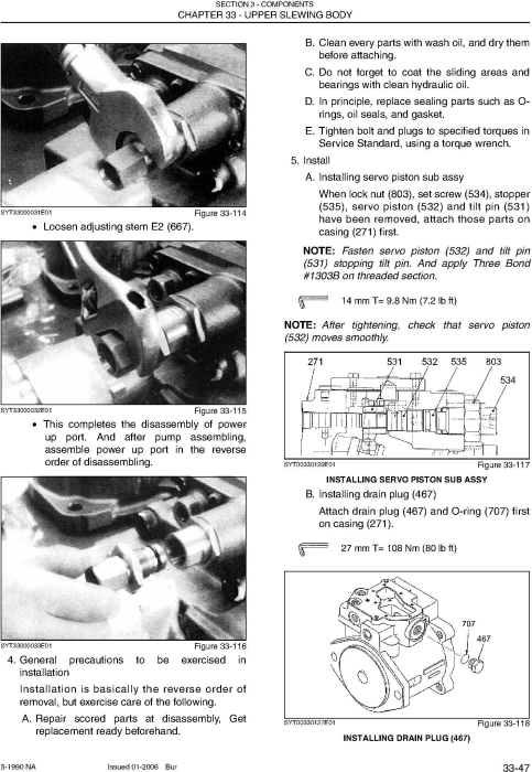 Fourth Additional product image for - New Holland E70 MIDI Crawler Excavator Service Manual