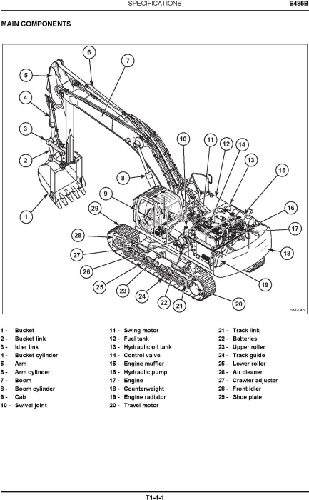 Second Additional product image for - New Holland E485B Crawler Excavator Service Manual