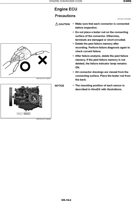 Fourth Additional product image for - New Holland E485B Crawler Excavator Service Manual
