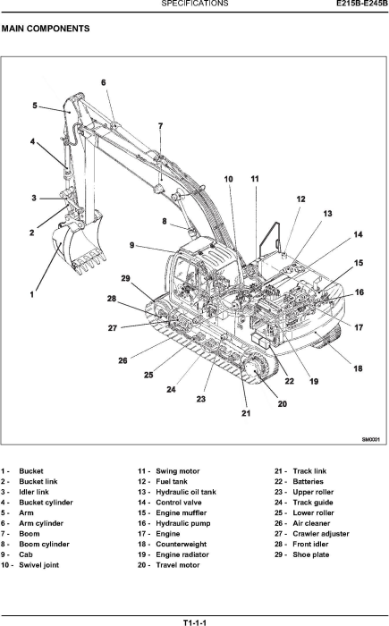 Second Additional product image for - New Holland E215B, E245B Crawler excavator Service Manual