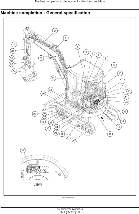 Second Additional product image for - New Holland E35B Tier 4B final Compact Excavator (PIN. from NETN 36001, PX17 40001) Service Manual