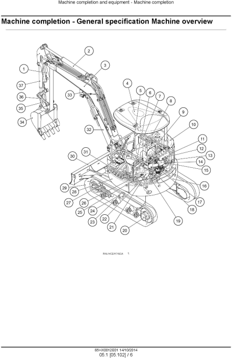 Second Additional product image for - New Holland E35B Tier3 Compact Hydraulic Excavator (PIN from NETN 36001,  PX17 40001) Service Manual
