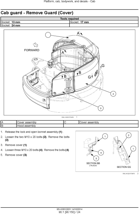 Fourth Additional product image for - New Holland E35B Tier3 Compact Hydraulic Excavator (PIN from NETN 36001,  PX17 40001) Service Manual
