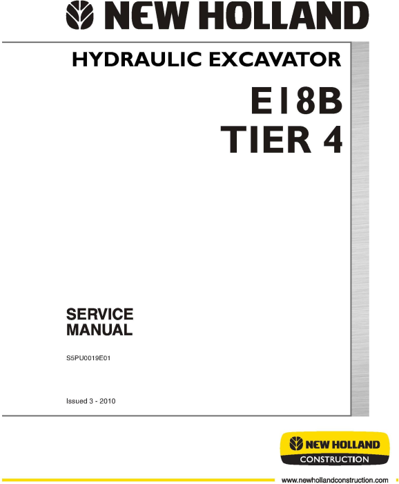 First Additional product image for - New Holland E18B Tier 4 Hydraulic Excavator Service Manual