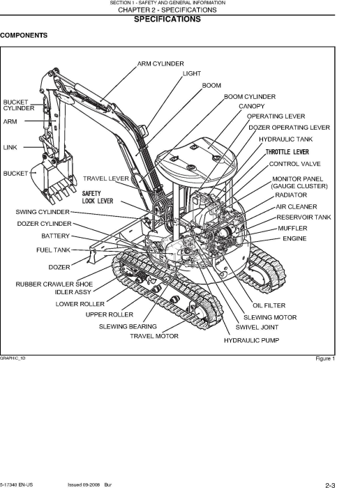 Second Additional product image for - New Holland E30B SR, E35B SR Tier 4 Compact Crawler Excavator Service Manual