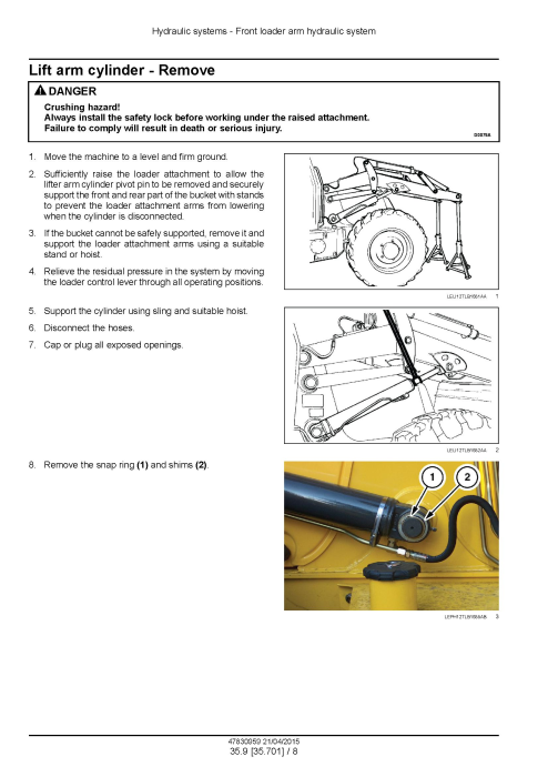Fourth Additional product image for - New Holland B95C, B95CTC, B110C Tier 4B (Final) Tractor Loader Backhoe Complete Service Manual
