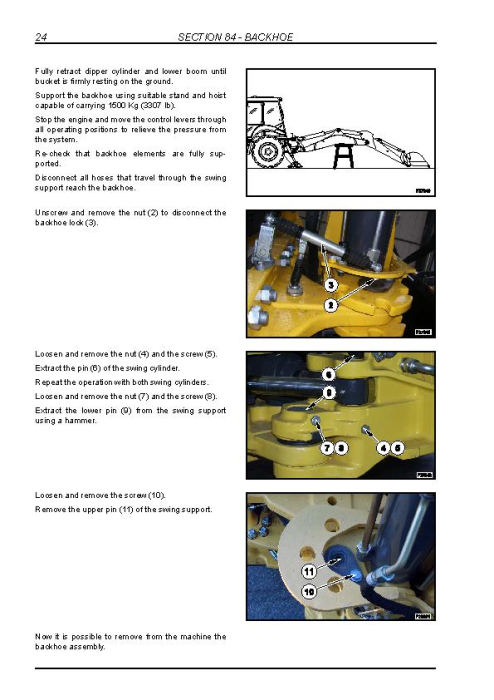 Fourth Additional product image for - New Holland B90B, B95B, B95BLR, B95BTC, B110B, B115B Tier 3 Backhoe Loaders Service Manual