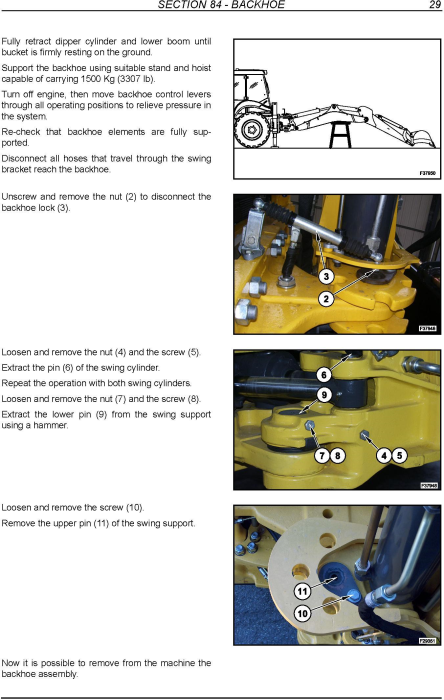 Third Additional product image for - New Holland B90B, B90BLR, B100BTC, B110B, B110BTC, B115B Backhoe Loader Service Manual