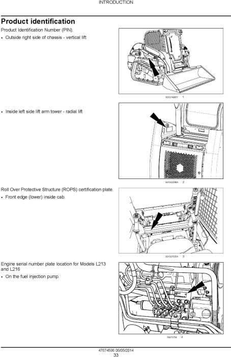 New Holland L230 Skid Steer Loader, C238 Compact Track