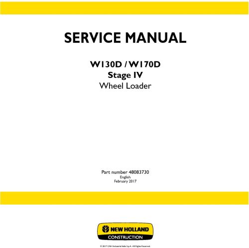 First Additional product image for - New Holland W130D, W170D Stage IV Wheel loaders Service Manual