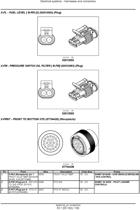 Third Additional product image for - New Holland W270D, W300D Tier 2 Wheel Loader Service Manual
