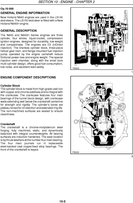 New Holland LS140, LS150 Skid Steer Loader Service Manual