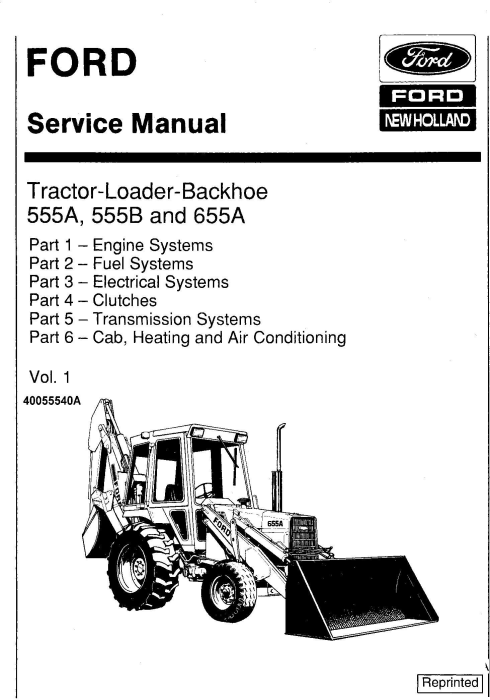 Ford 555A, 555B, 655, 655A Tractor Loader Backhoe Complete