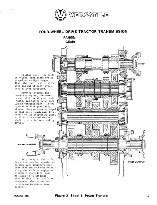 Third Additional product image for - Ford Versatile 700, 900 4WD Tractor (1972-1975) Service Repair Manual (V20500)