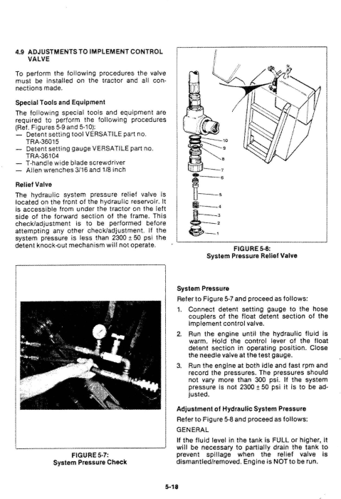 Third Additional product image for - Ford Versatile 700, 750, 800, 825, 850, 900, 950 4WD Tractor Series2 (1977) Service Manual (PU4001)