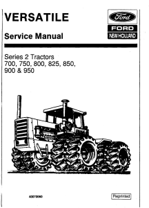 ford versatile 700, 750, 800, 825, 850, 900, 950 4wd tractor series2 (1977) service manual (pu4001)