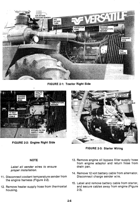 Third Additional product image for - Ford 1150 4WD Tractor Service Manual (V74801)