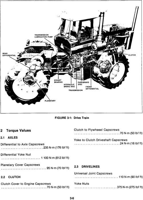 Fourth Additional product image for - Ford 1150 4WD Tractor Service Manual (V74801)