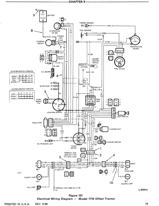 Ford 1310, 1510, 1710 Tractor Comlete Service Manual