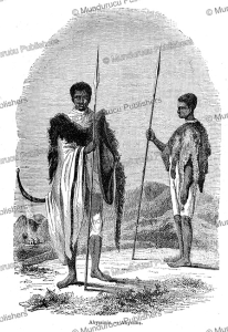 abyssinian warriors, l'illustration, 1847