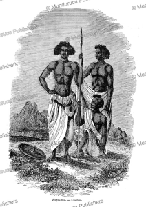 warriors of the shoho tribe of abyssinia, l'illustration, 1847