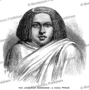 a galla woman of abyssinia, the illustrated london news, 1868
