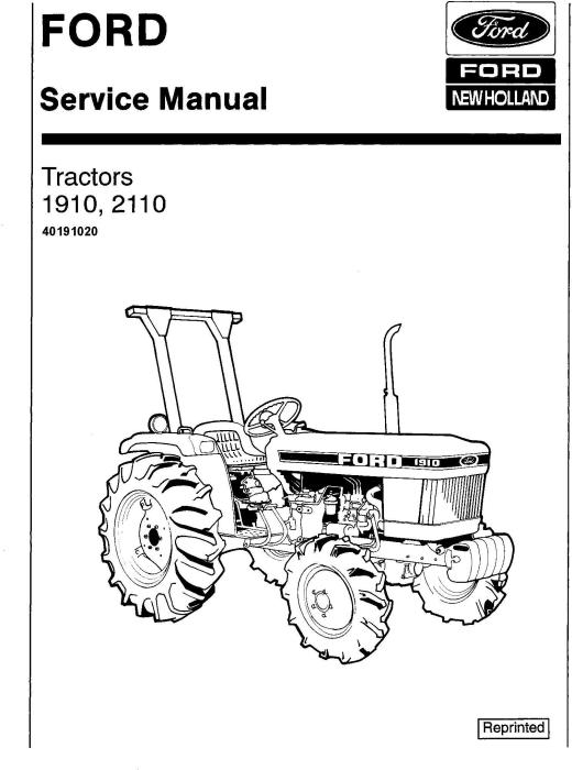 Ford 1910, 2110 Tractor Service Repair Manual (SE4370