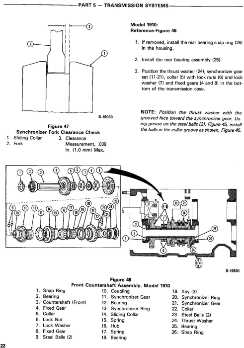Fourth Additional product image for - Ford 1910, 2110 Tractor Service Repair Manual (SE4370)