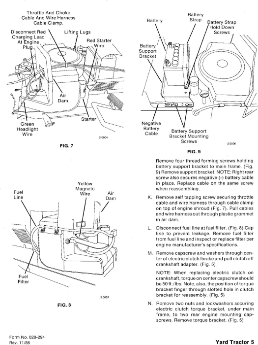 Third Additional product image for - Ford YT12.5, YT14, YT16, YT16H, YT18H Yard Tractors and Attachment Service Manual