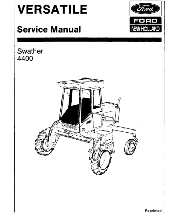 First Additional product image for - Ford Versatile Swather 4400 Gas & Diesel Service Manual (V74799)