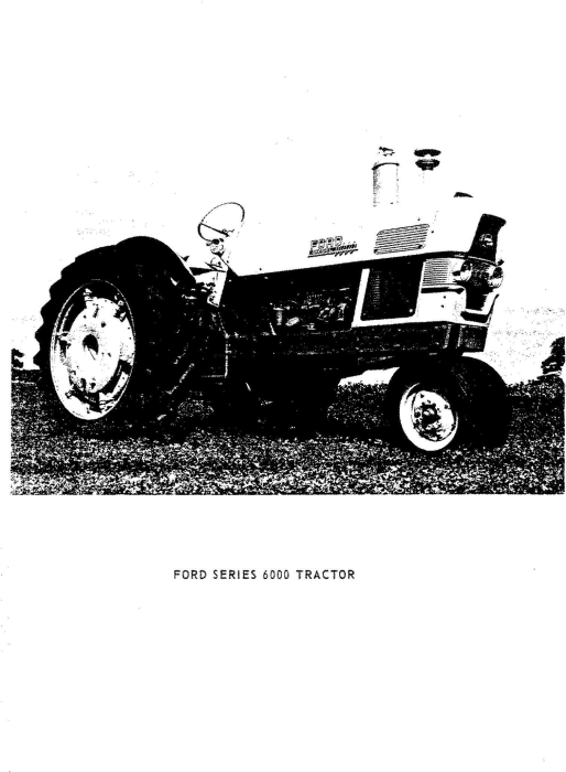 Second Additional product image for - Ford 6000 Tractor Workshop Service Manual (SE8799)