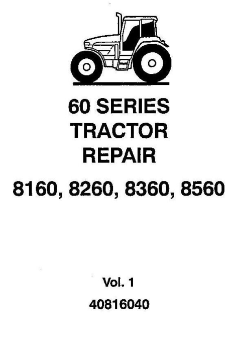 First Additional product image for - New Holland / Ford 8160, 8260, 8360, 8560 Tractors Complete Service Manual